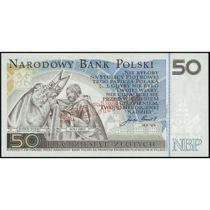 50 złotych, 16.10.2006, Jan Paweł II, ukośny nadruk WZÓ...
