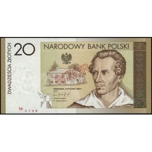 20 złotych, 8.01.2009, Juliusz Słowacki - 200. rocznica...