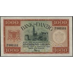 Bank von Danzig, 1.000 guldenów 10.02.1924, seria F, nu...
