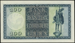 Bank von Danzig, 100 guldenów 1.08.1931, seria D/A, num...