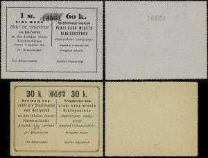 Kasa Miasta, blankiety bonów 30 i 60 kopiejek 15.09.191...