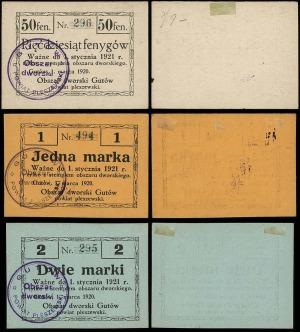 zestaw bonów: 50 fenigów, 1 i 2 marki, 1.03.1920, numer...