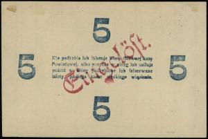 5 marek 4.09.1919, numeracja 102045, papier ze znakiem ...