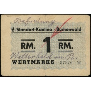 Buchenwald, SS-Standort-Kantine, bon na 1 markę, numera...