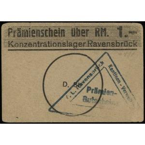 Konzentrationslager Ravensbrück, bon na 1 markę, papier...