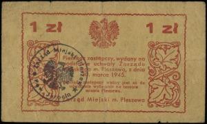 Pleszew, Zarząd Miejski, 1 złoty 30.03.1945, ze stemple...