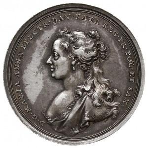August III, medal bez daty, sygnowany F A Schega, wybit...