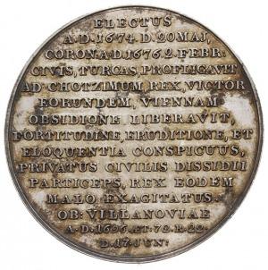 Jan III Sobieski - medal z pocztu królewskiego autorstw...