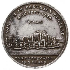 Fryderyk II, zdobycie Pragi w 1744 r. - medal autorstwa...