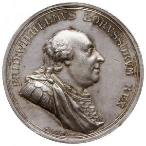 Fryderyk Wilhelm II - medal sygnowany ABRAHAMSON, wybit...
