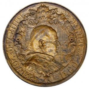 Pius XI - jednostronny medalion wydany nakładem Towarzy...