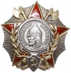 ZSRR - order Aleksandra Newskiego, II wersja, srebro zł...