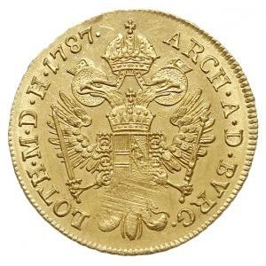 dukat 1787 A, Wiedeń, Fr. 439, Her. 29, złoto 3.50 g, m...