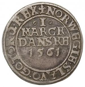 1 marka 1561, Kopenhaga / Frederiksborg, Hede 9, srebro...