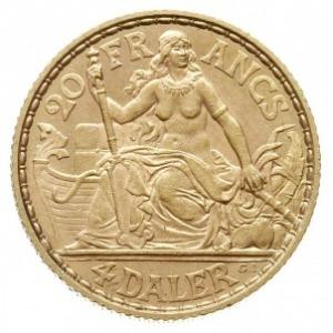 20 franków / 4 daler 1904, Hede 30, Fr. 2, złoto 6.45 g...