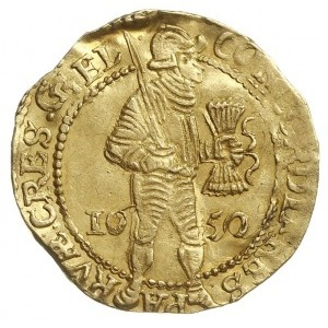 Geldria, dukat 1650, Purmer Ge46, Delm. 649, złoto 3.38...