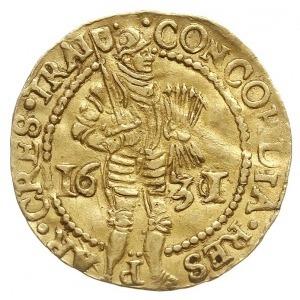 Utrecht, dukat 1631 / 20, przebita data na stemplu z 16...