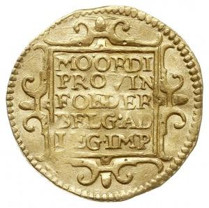 Zelandia, dukat 1597, Purmer Ze20, Delm. 883 (R), złoto...