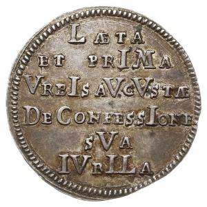 odbitka w srebrze dukata 1730 na 200-lecie Konfesji Aug...