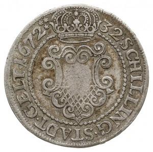 32 szylingi 1672, Aw: Orzeł cesarski, MONETA NOVA CIVIT...