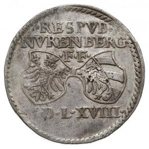 guldentaler (60 krajcarów) 1568, Aw: Dwie tarcze herbow...