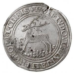 talar 1550, Stolberg, Aw: Jeleń w lewo, Rw: Czteropolow...