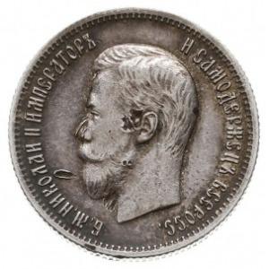25 kopiejek 1901, Petersburg, srebro 4.99 g, Bitkin 99 ...