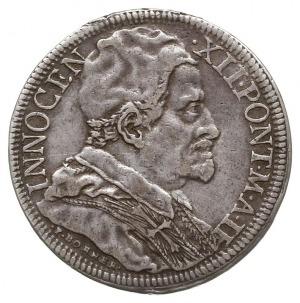 1/2 piastra 1692, Rzym, Aw: Popiersie w prawo, Rw: Stoj...