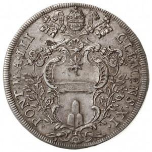 piastra 1703, Rzym, Aw: Tarcza herbowa, Rw: Widok kości...