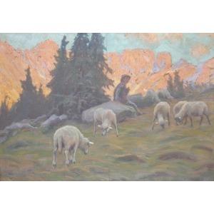Zefir (Zefiryn) ĆWIKLIŃSKI, Wypas owiec, 1924