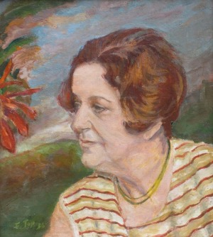 Feliks  TOPOLSKI, Portret Zofii Kossak-Szczuckiej,1936