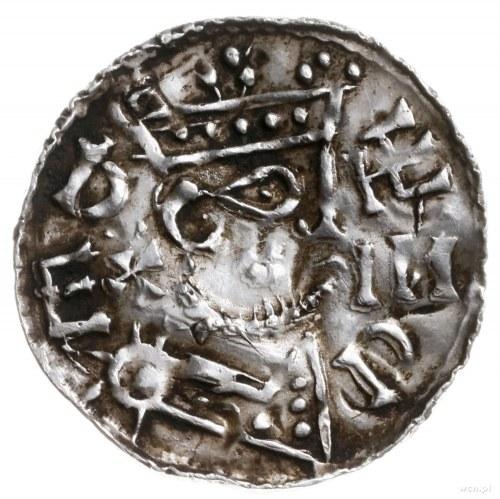 denar, 1042-1047; Aw: Popiersie władcy w prawo, w koron...