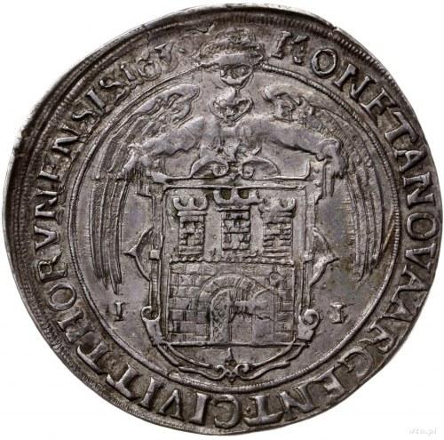 talar 1630, Toruń; Aw: Półpostać króla w prawo, w koron...