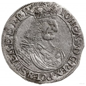 ort 1661, Elbląg; Aw: Popiersie króla w lewo, wokoło na...