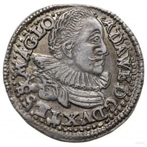 trojak 1596, Cieszyn; Aw: Popiersie księcia zwrócone w ...