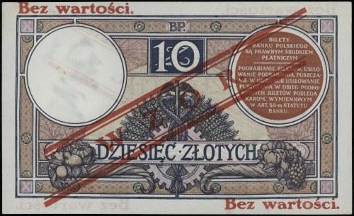 10 złotych 15.07.1924, III emisja, seria A, numeracja 9...