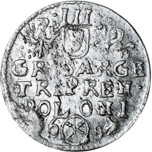 RRR-, Jan III Sobieski, Trojak 1684, Bydgoszcz, menniczy