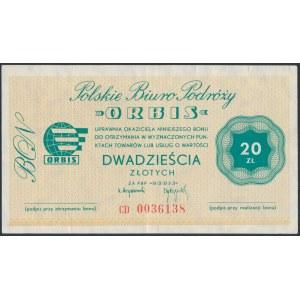 Polskie Biuro Podróży ORBIS, Bon 20 złotych - CD