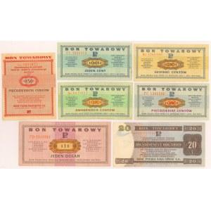 PEWEX od 1 centa do 20 dolarów 1960-1979 (7szt)