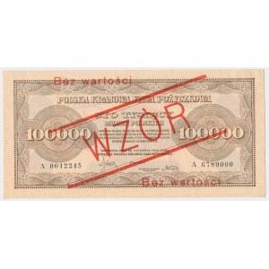 100.000 mkp 1923 - WZÓR - bez perforacji