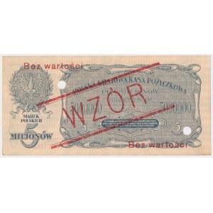 5 mln mkp 1923 - WZÓR - A