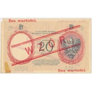20 złotych 1924 - WZÓR - II EM. A