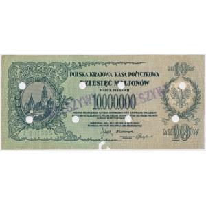 Falsyfikat z epoki 10 mln mkp 1923