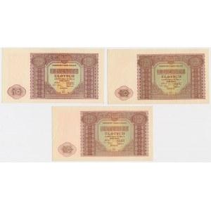 10 złotych 1946 - zestaw (3szt)