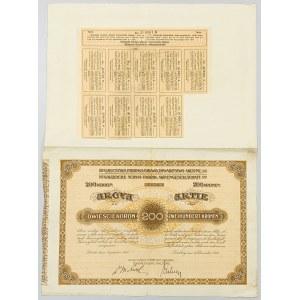 Gafota Galicyjska Fabryka Obuwia, Em.1, 200 koron 1912