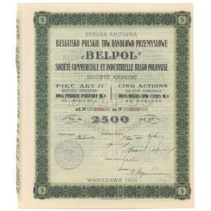 Belpol Belgijsko-Polskie Tow. Handlowo...., 5x 500 mkp 1921
