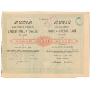 Galicyjski Ziemski Bank Kredytowy we Lwowie, 400 kr 1920