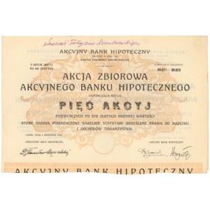 Akcyjny Bank Hipoteczny, Em.13, 5x 100 zł 1926