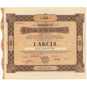 Bank Zachodni, Em.2, 100 zł 1929