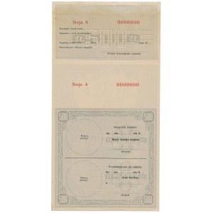 Asygnata Ministerstwa Skarbu (1939) - WZÓR 500 zł A 0000000